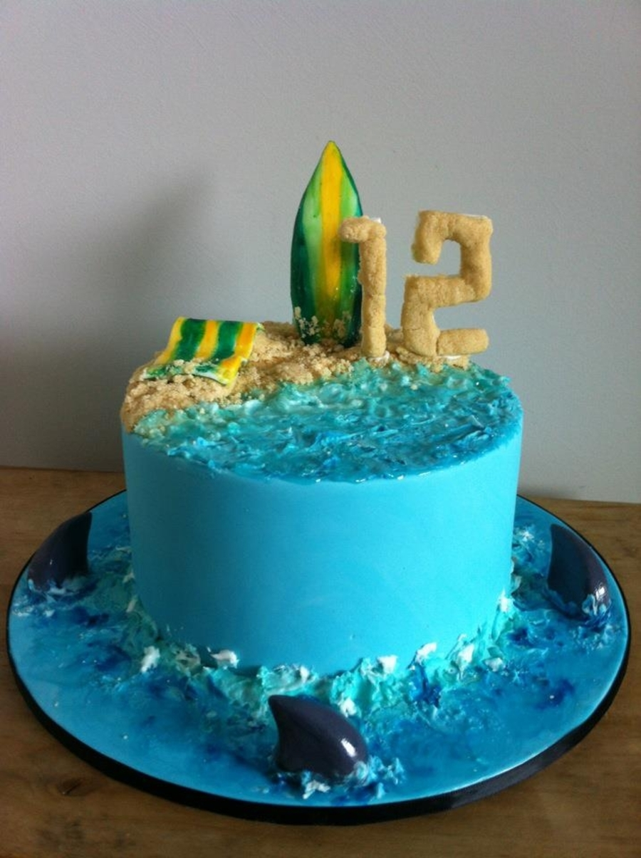 Beach Birthday Cake on Cake Central