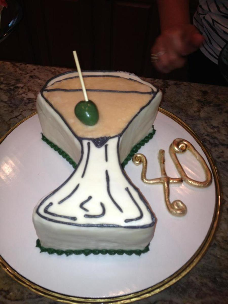 Martini Cake For A 2nd Annual 39th Birthday Party Vanilla Sponge