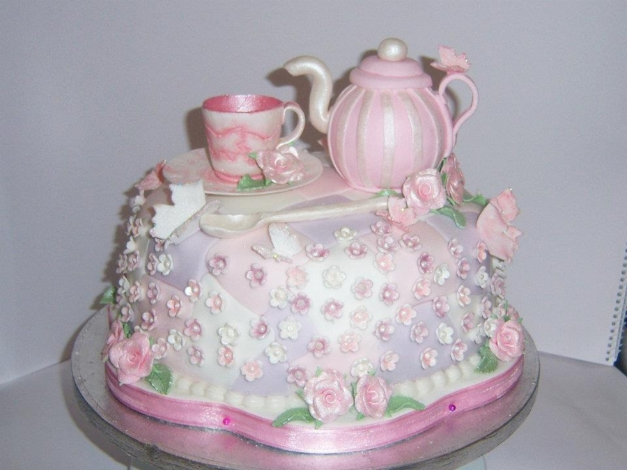 Granny's Afternoon Tea Party Cake on Cake Central