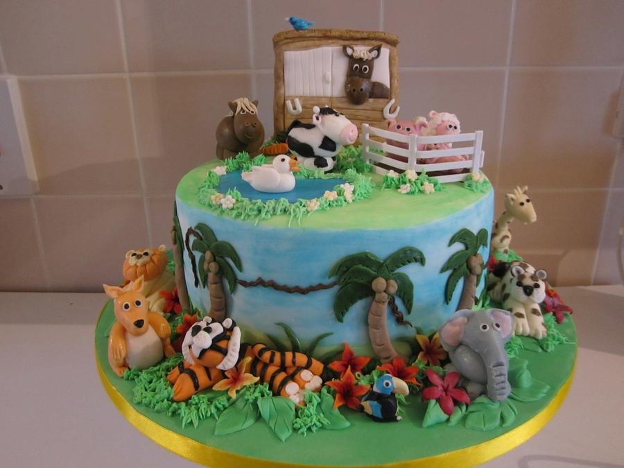 Fabulous Maisies Animal Birthday Cake Cakecentral Com Funny Birthday Cards Online Alyptdamsfinfo