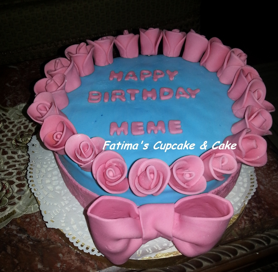 Birthday Cake In Pink & Blue on Cake Central