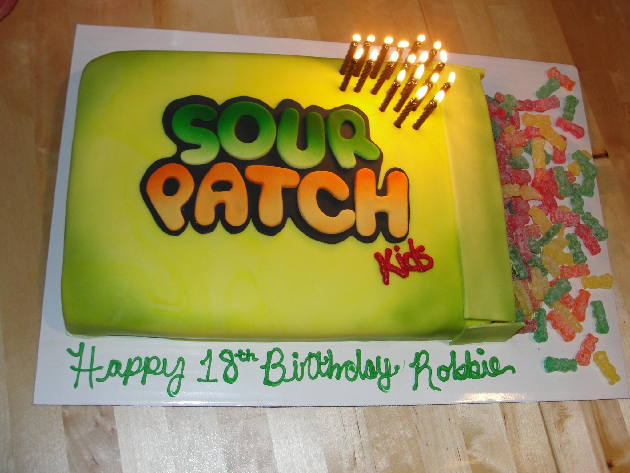 Sour Patch Kids Birthday Cake