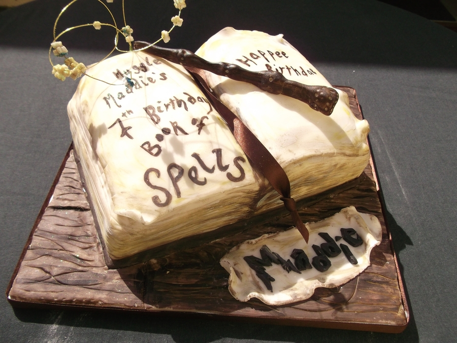 Harry Potter - Book Of Spells & Elder Wand Cake on Cake Central