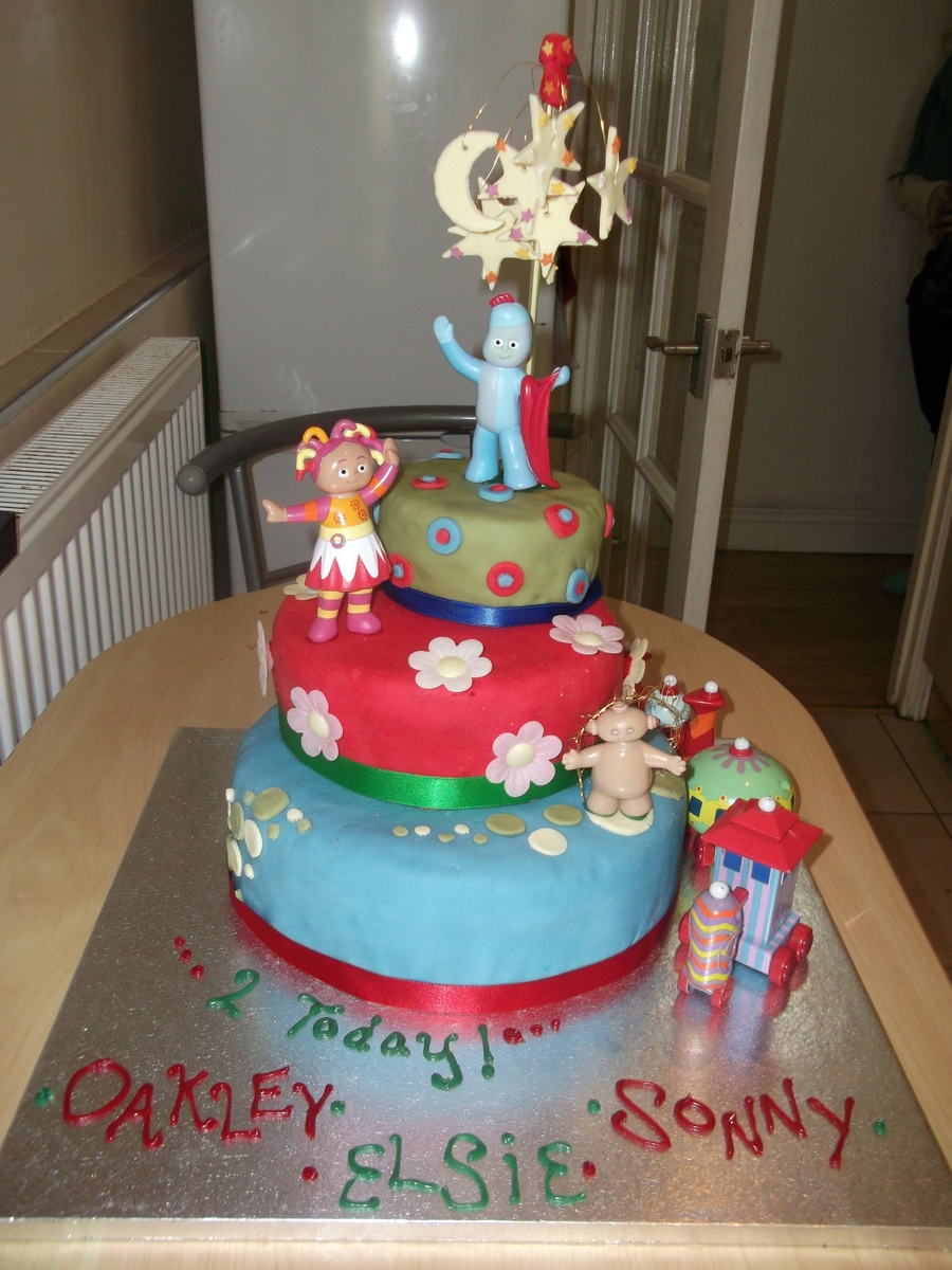 3 Tier In The Night Garden Cake on Cake Central