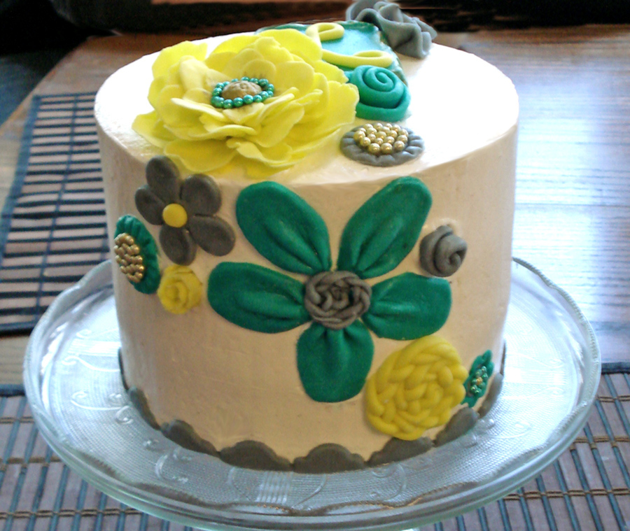 Contemporary Floral Birthday on Cake Central