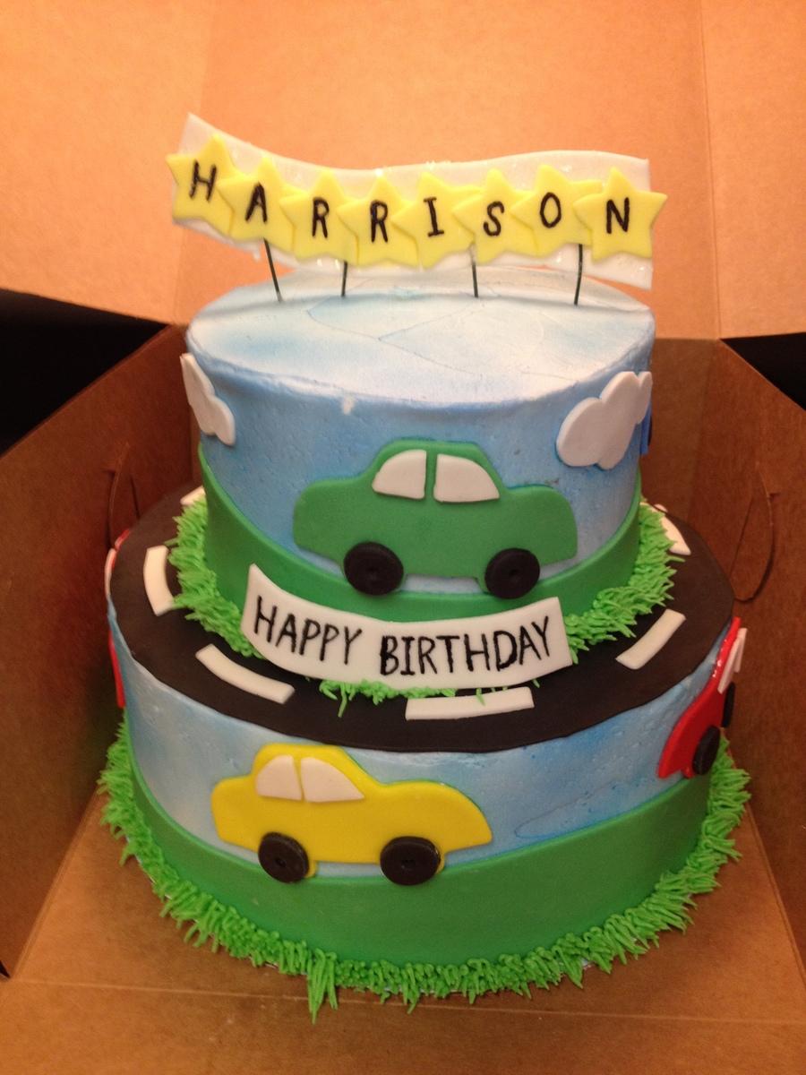 Astounding Car Themed Birthday Cake Cakecentral Com Personalised Birthday Cards Veneteletsinfo