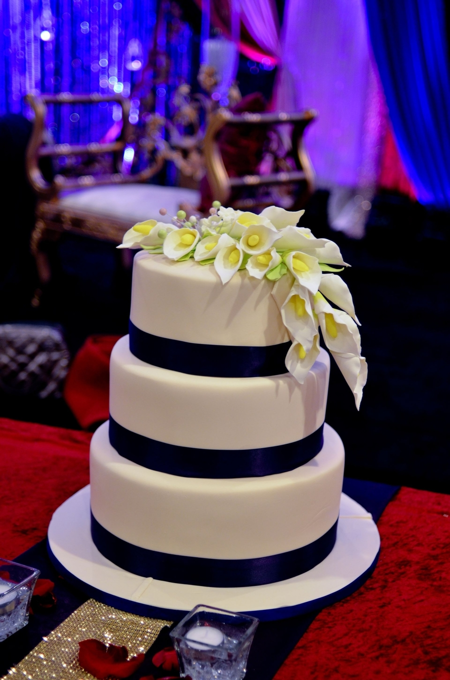 Calla Lilly Wedding Cake on Cake Central