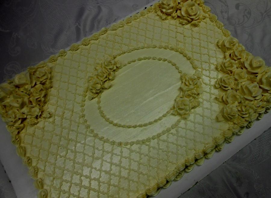 Wedding Sheet Cake With Swiss Meringue Buttercream CakeCentralcom