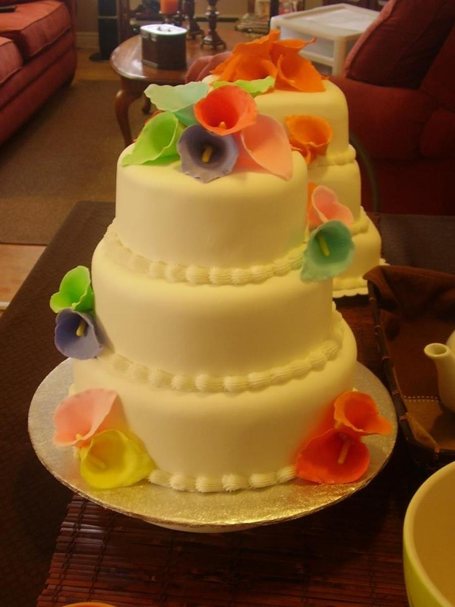 Rainbow Wedding Cake CakeCentral