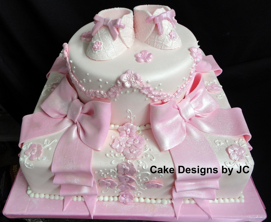 Pink Baby Shoes on Cake Central