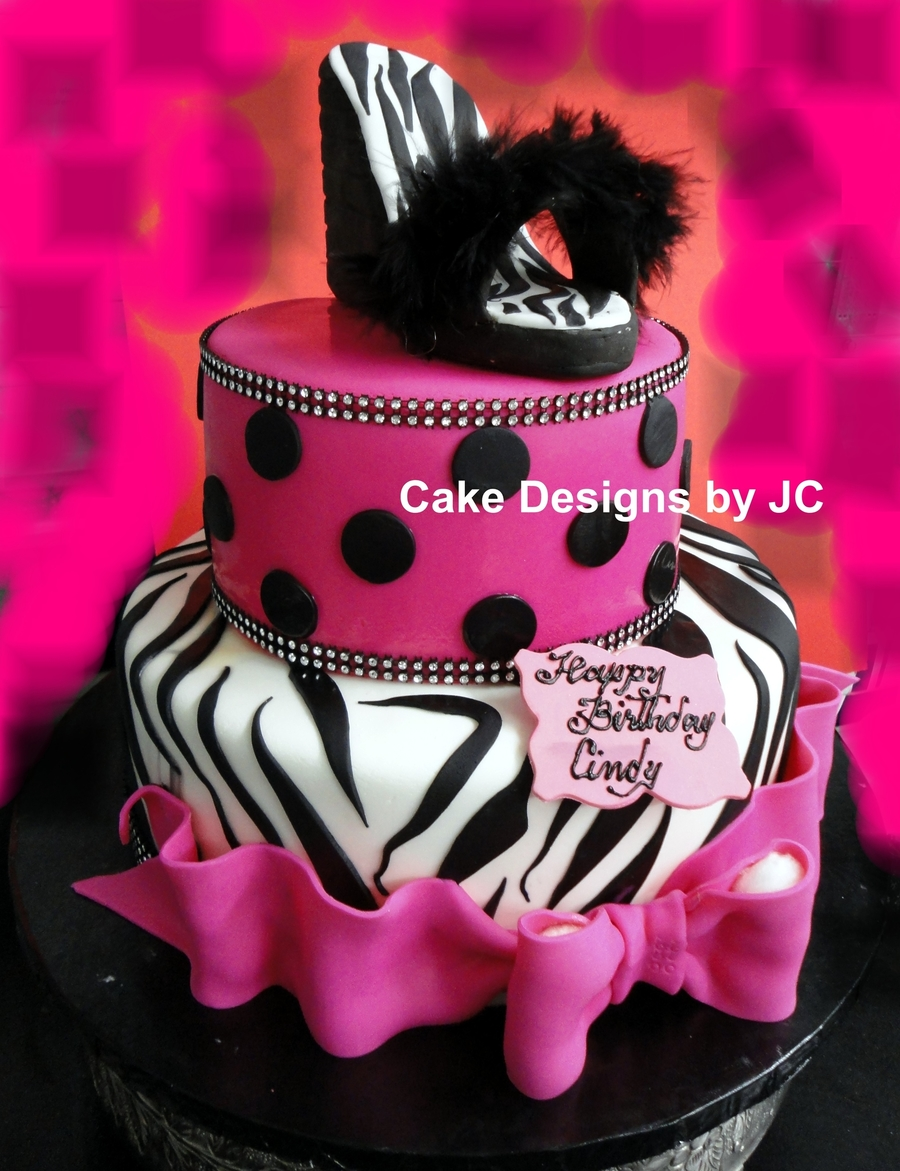 Pink Zebra Shoe on Cake Central