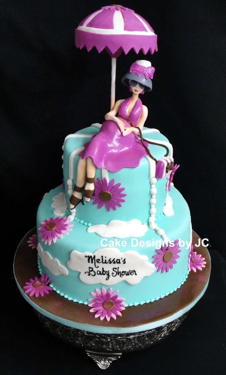 Girly Baby Shower Cake on Cake Central