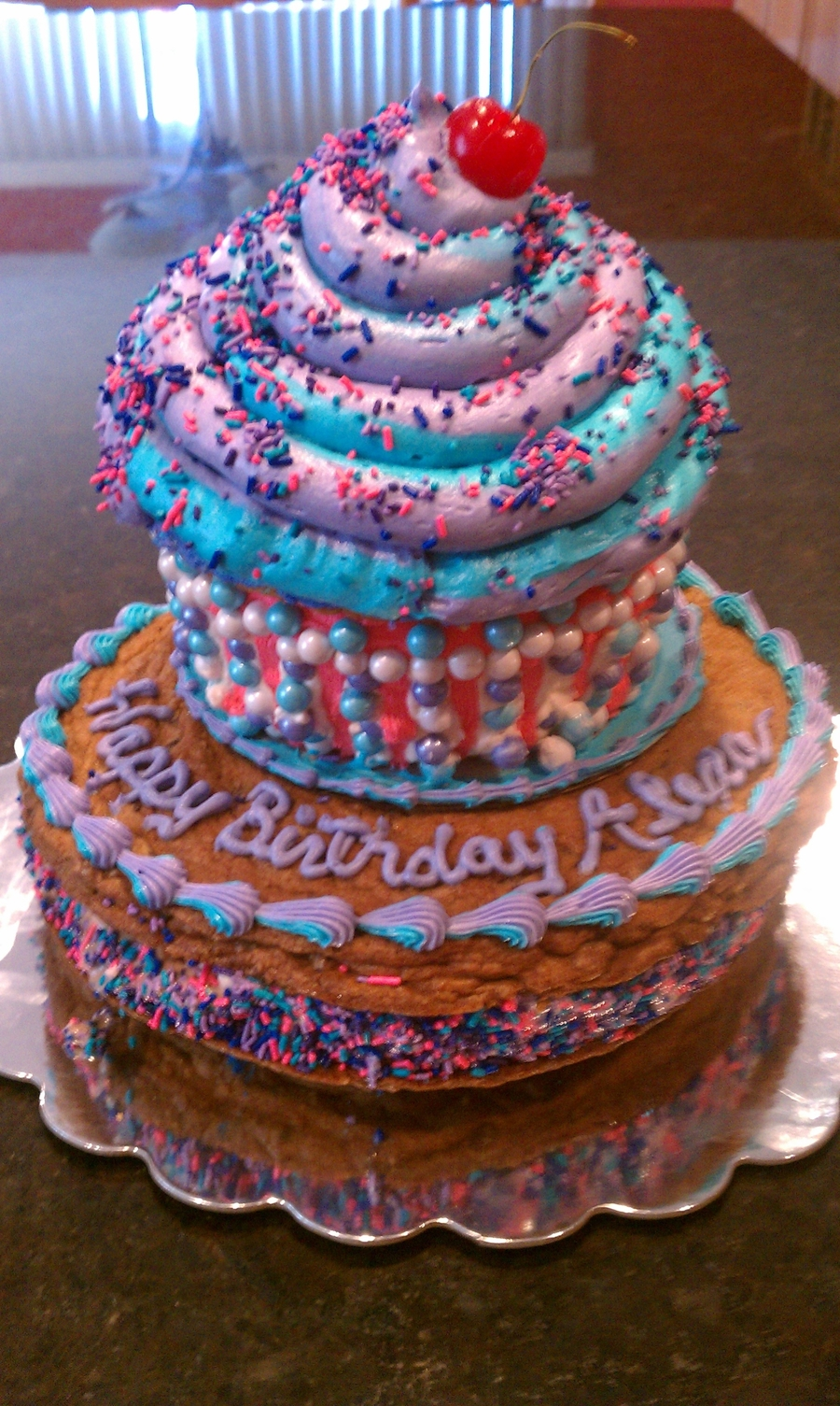 Giant Cupcake Ice Cream Cake