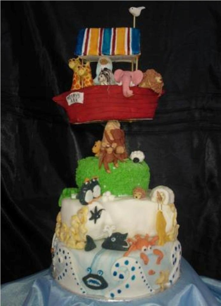 Noahs Ark Christening Cake on Cake Central