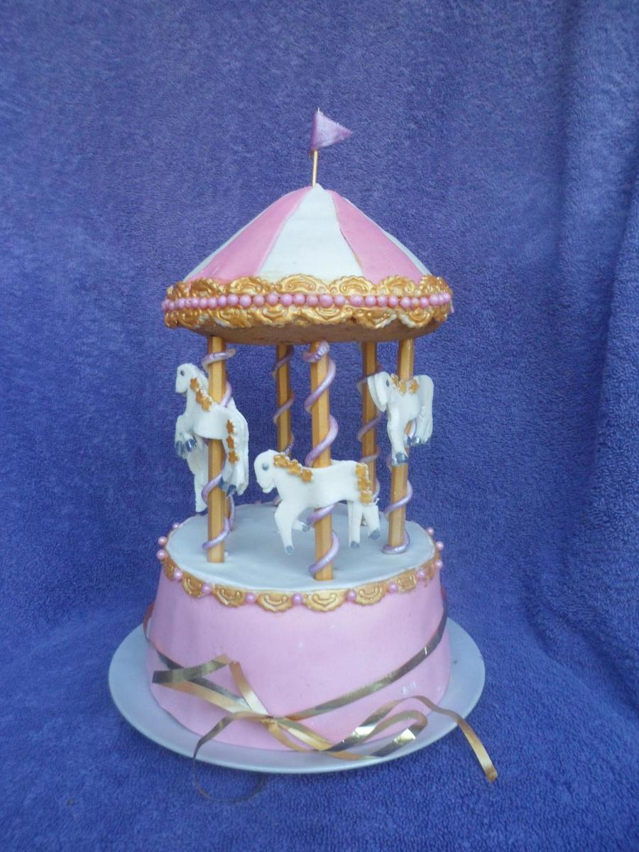 I Have This Carousel Cake Listed Under Baby Shower But It Can Also ...