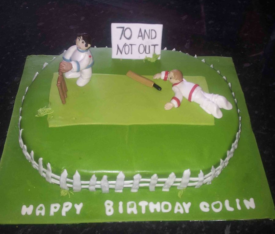 Oval Cricket Cake on Cake Central