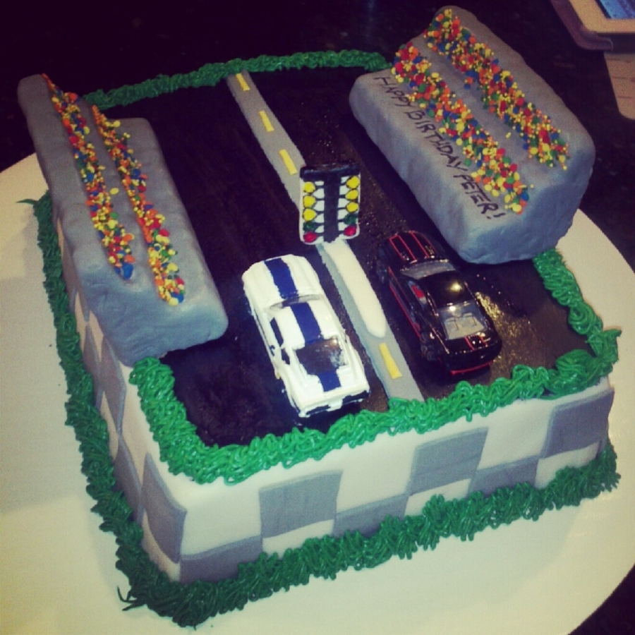 Drag Racing Cake on Cake Central