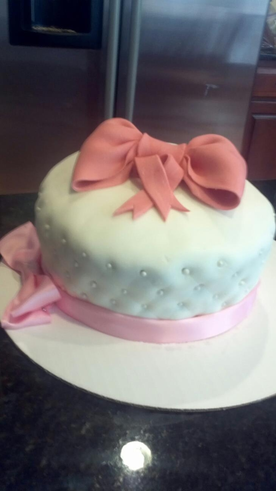 Pink Bow on Cake Central