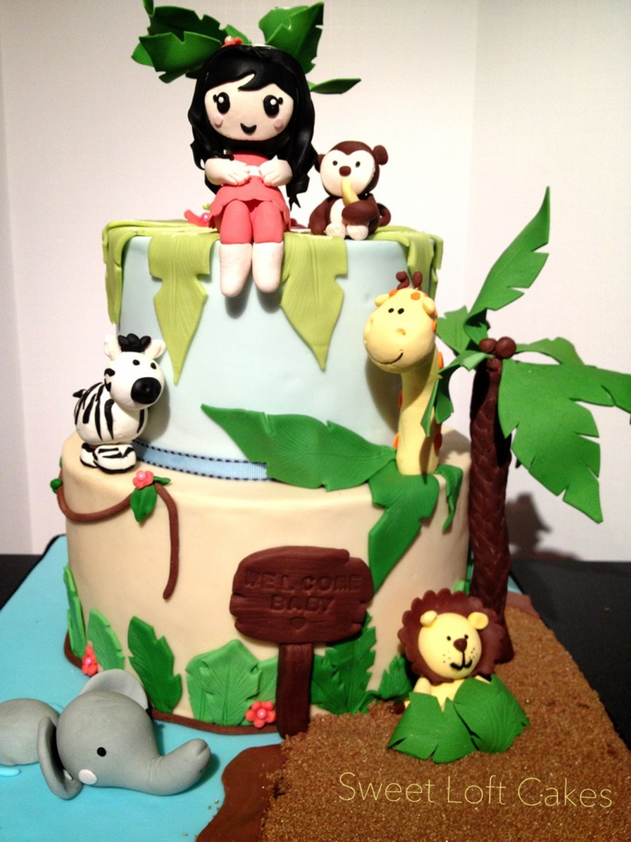 Jungle Animals Theme Cake on Cake Central
