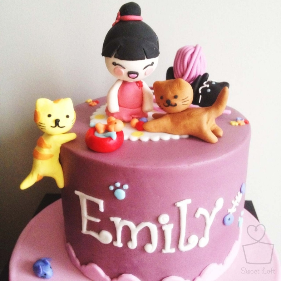 Birthday Cake Images Emily : Kitty Cat Birthday Cake - CakeCentral.com