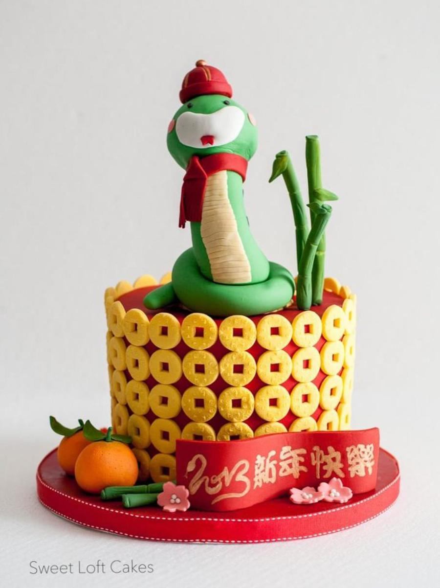 Chinese New Year Celebration Cake Year Of The Snake on Cake Central