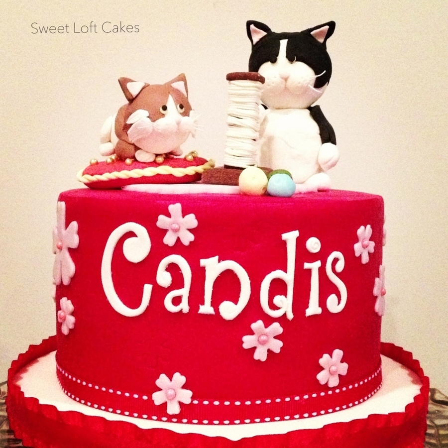 Kitty Cat Birthday Cake CakeCentralcom