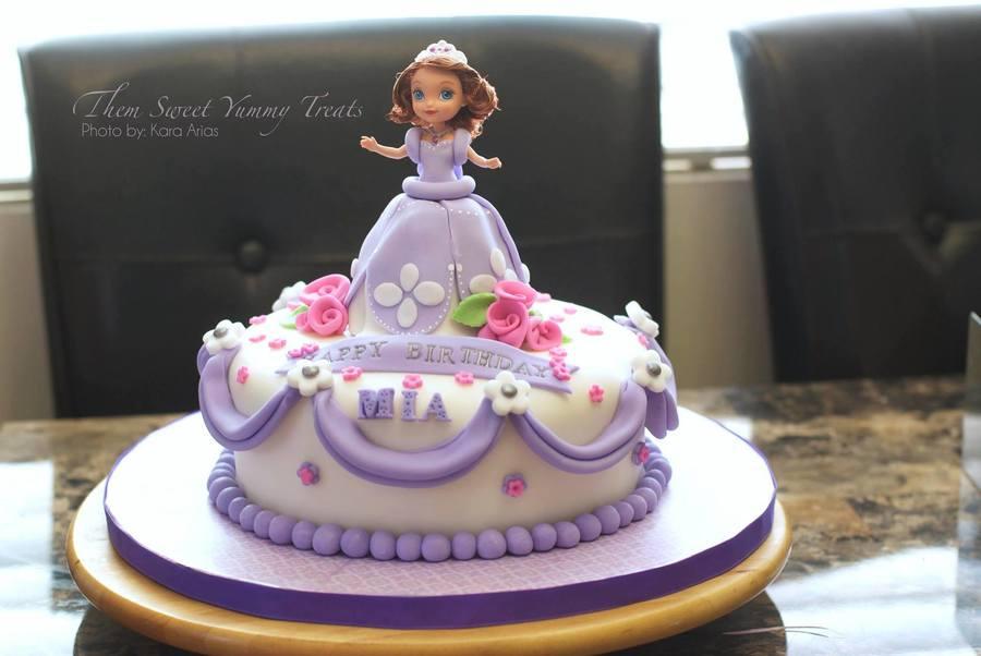 Princess Sofia Cake That I Made For My Goddaughter