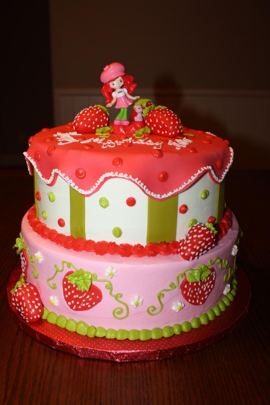 Astonishing Strawberry Shortcake Birthday Cake Cakecentral Com Personalised Birthday Cards Beptaeletsinfo