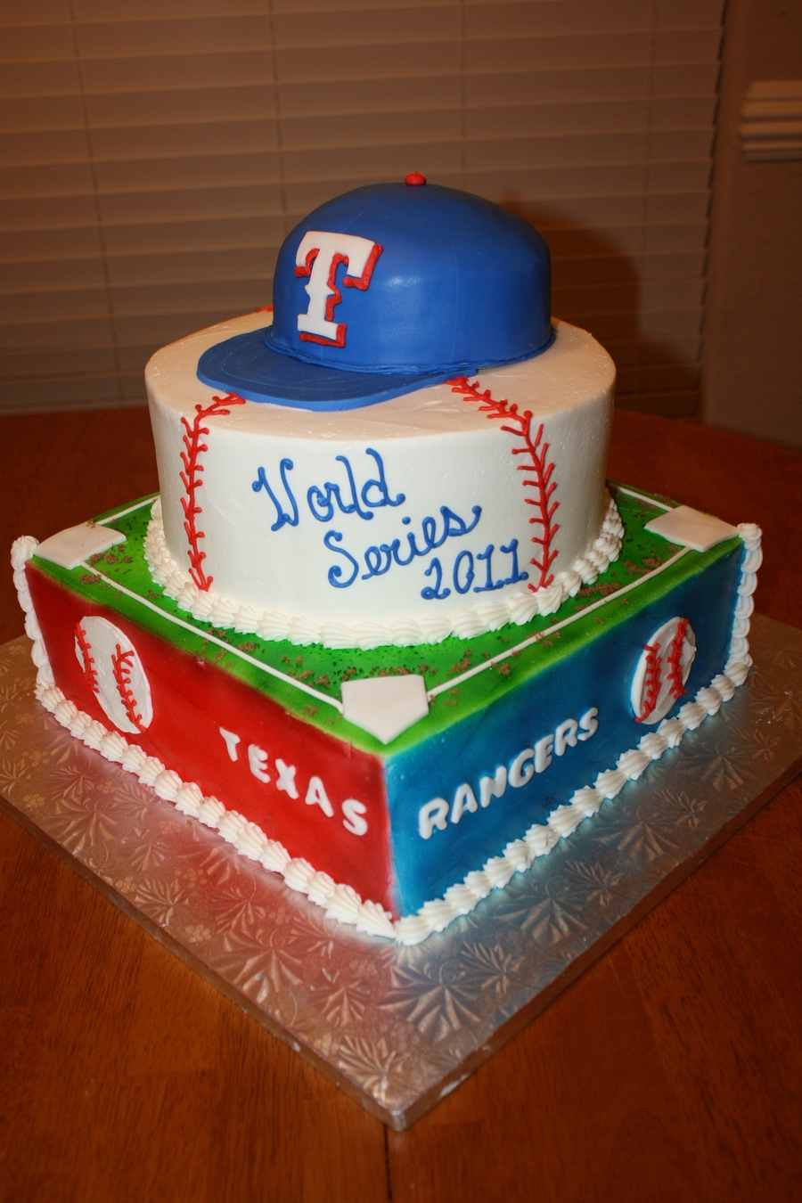 Texas Rangers World Series Cake on Cake Central