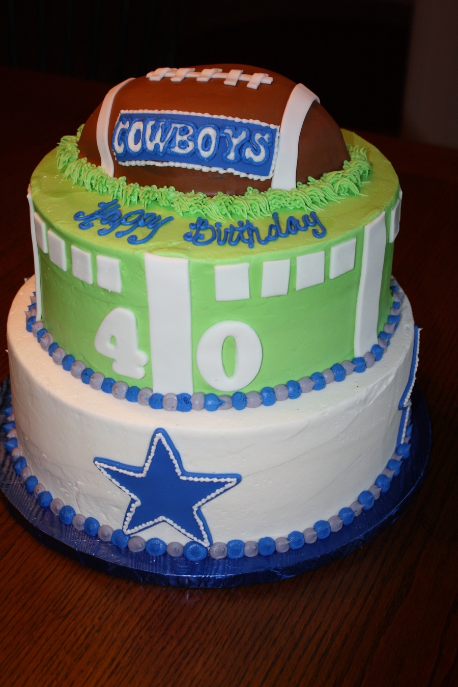Dallas Cowboys Birthday Cake CakeCentralcom