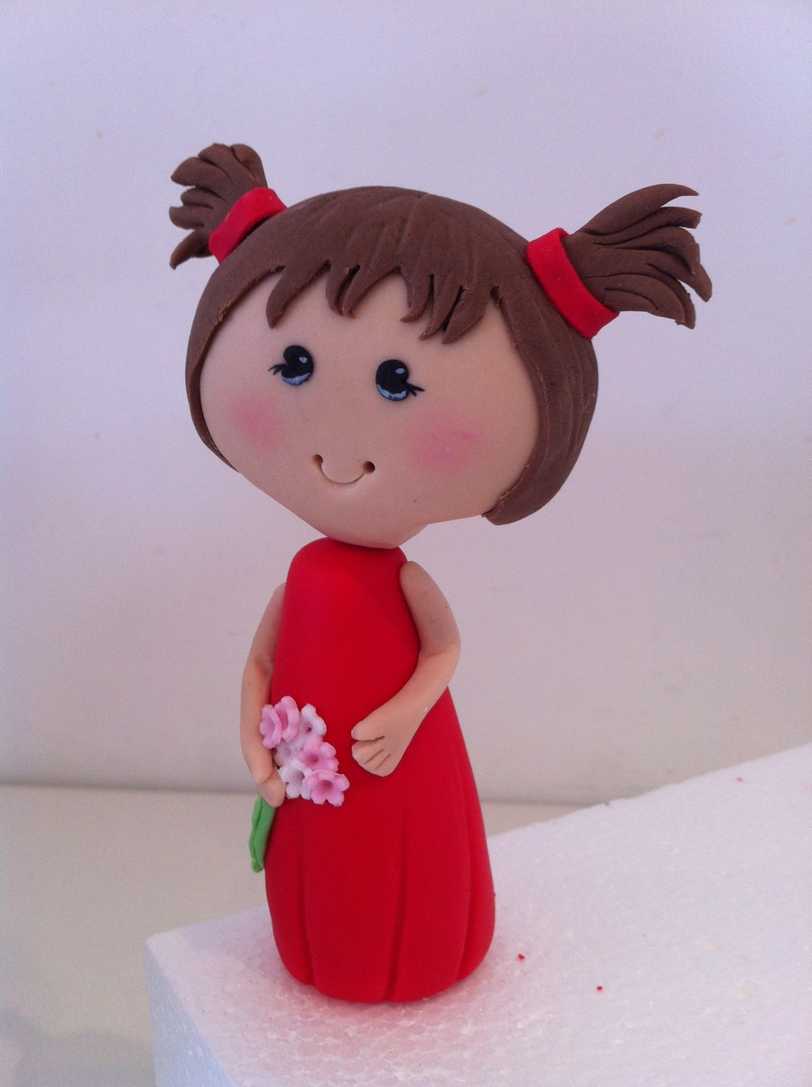 Little Girl Figurine on Cake Central