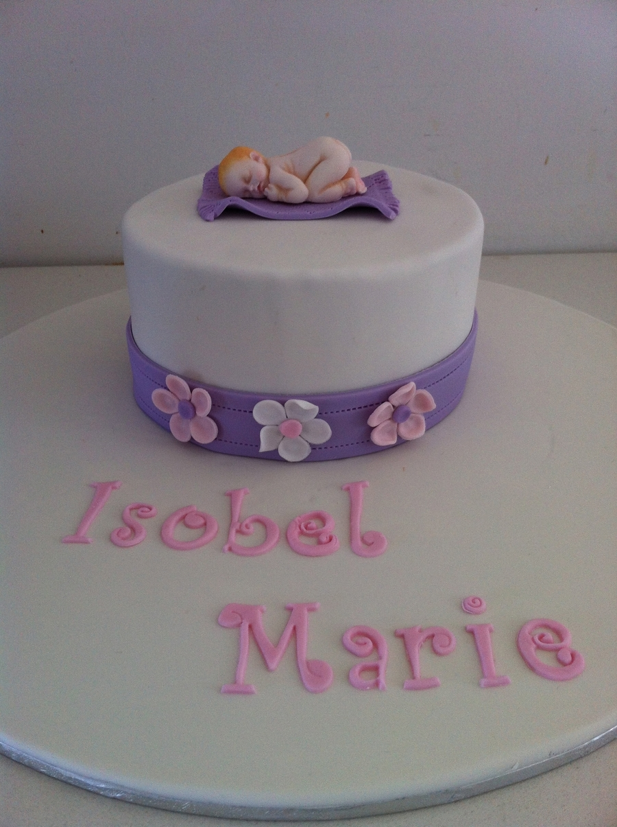 Welcome Baby Isobel  on Cake Central
