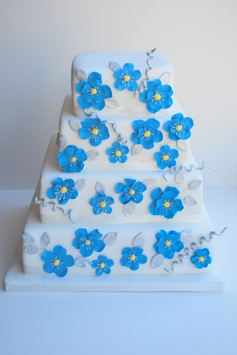 Royal Blue With Silver Trims on Cake Central