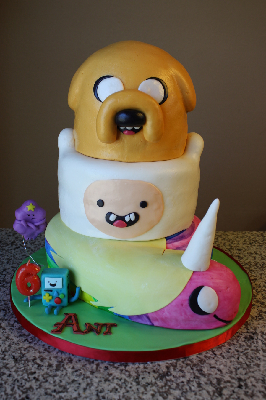 Pleasing Adventure Time Birthday Cake Cakecentral Com Funny Birthday Cards Online Fluifree Goldxyz