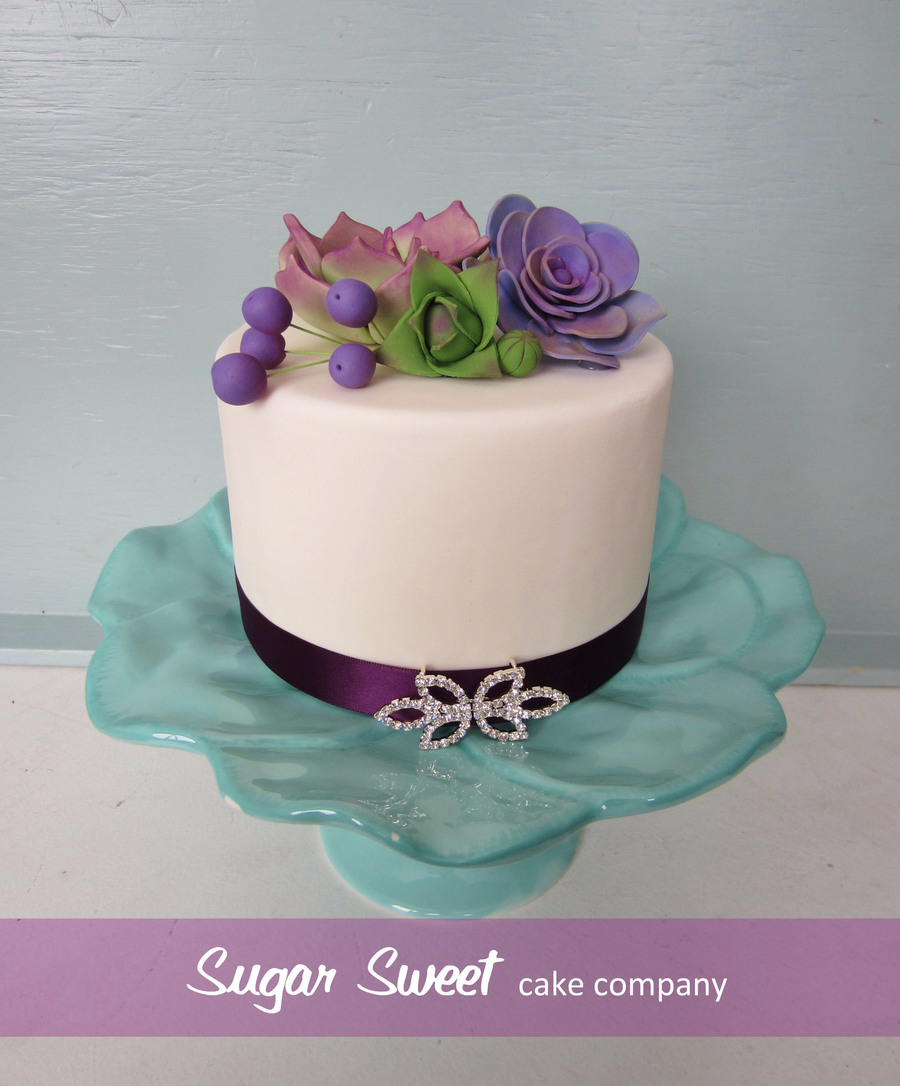 Handmade Sugar Succulents And Berries Rhinestone Clasp on Cake Central