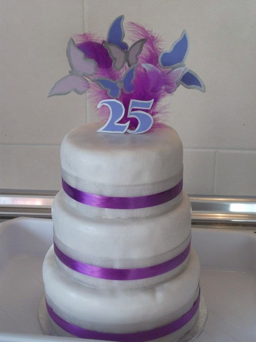 Silver Wedding Anniversary on Cake Central