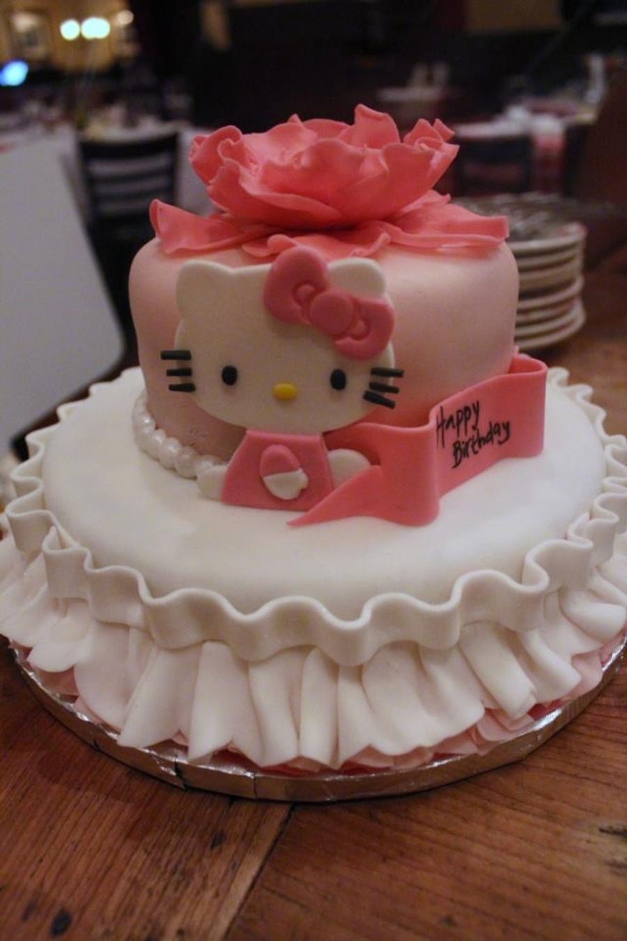 Hello Kitty With Ruffles on Cake Central