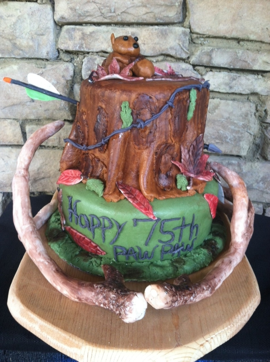 Hunting Theme 75th Birthday Cake Cakecentral Com