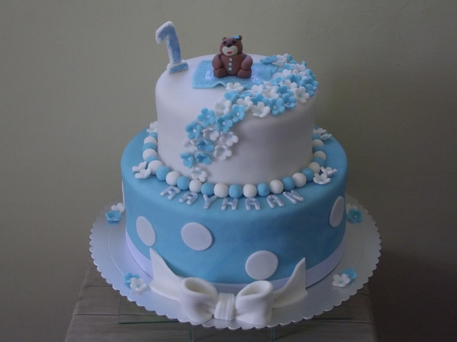 Pleasing Teddy Bear Birthday Cake Cakecentral Com Personalised Birthday Cards Epsylily Jamesorg