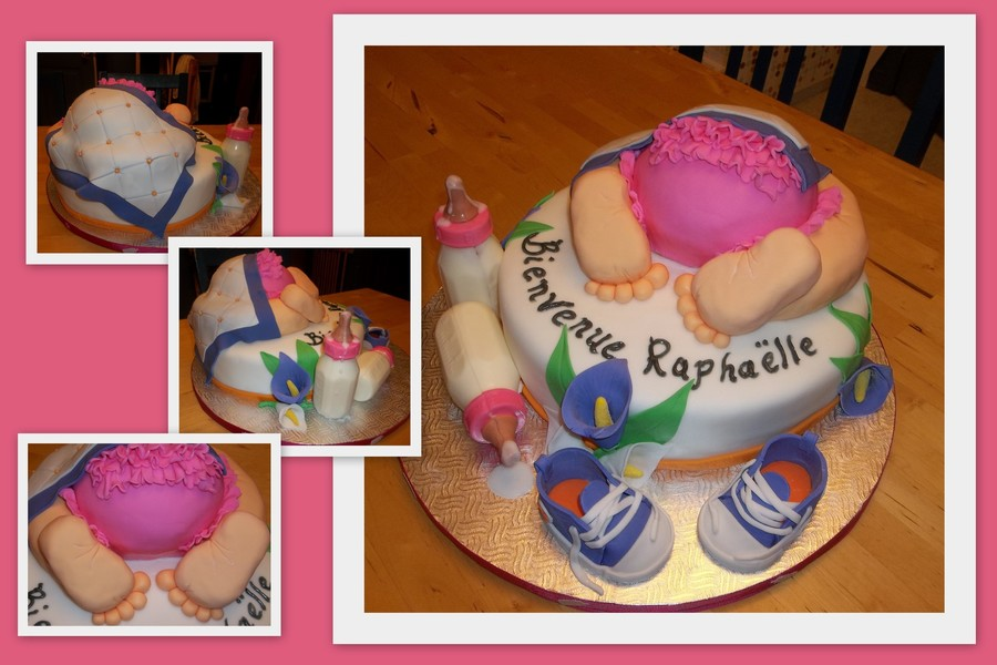 For A Girl Baby Shower on Cake Central