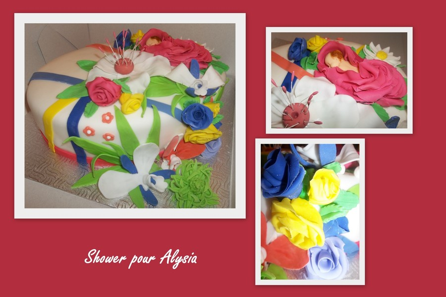 For A Girl Baby Shower Inspired By Anne Geddes on Cake Central
