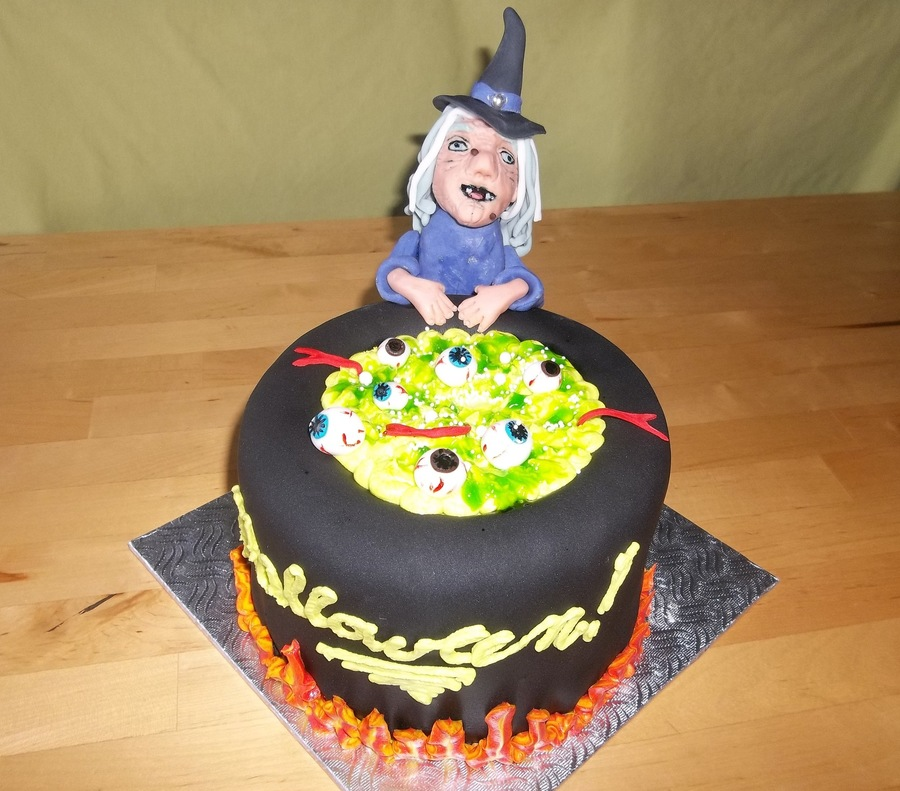 Witch And Magic Potionyummy on Cake Central