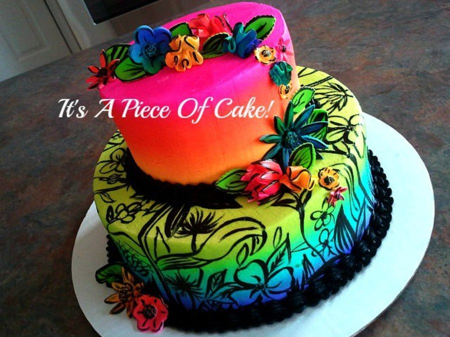 Buttercream Airbrushed Cake CakeCentralcom