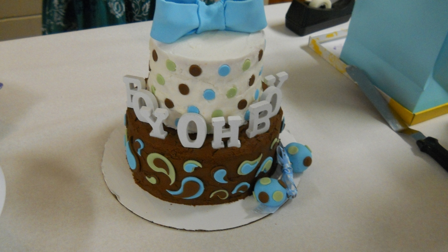 Boy Oh Boy Baby Shower Cake on Cake Central