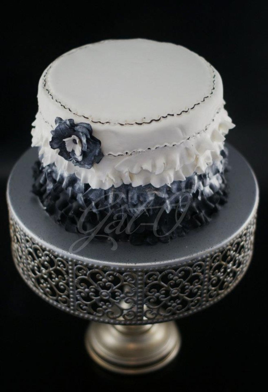 Frilly Ombre Ruffle Cake on Cake Central