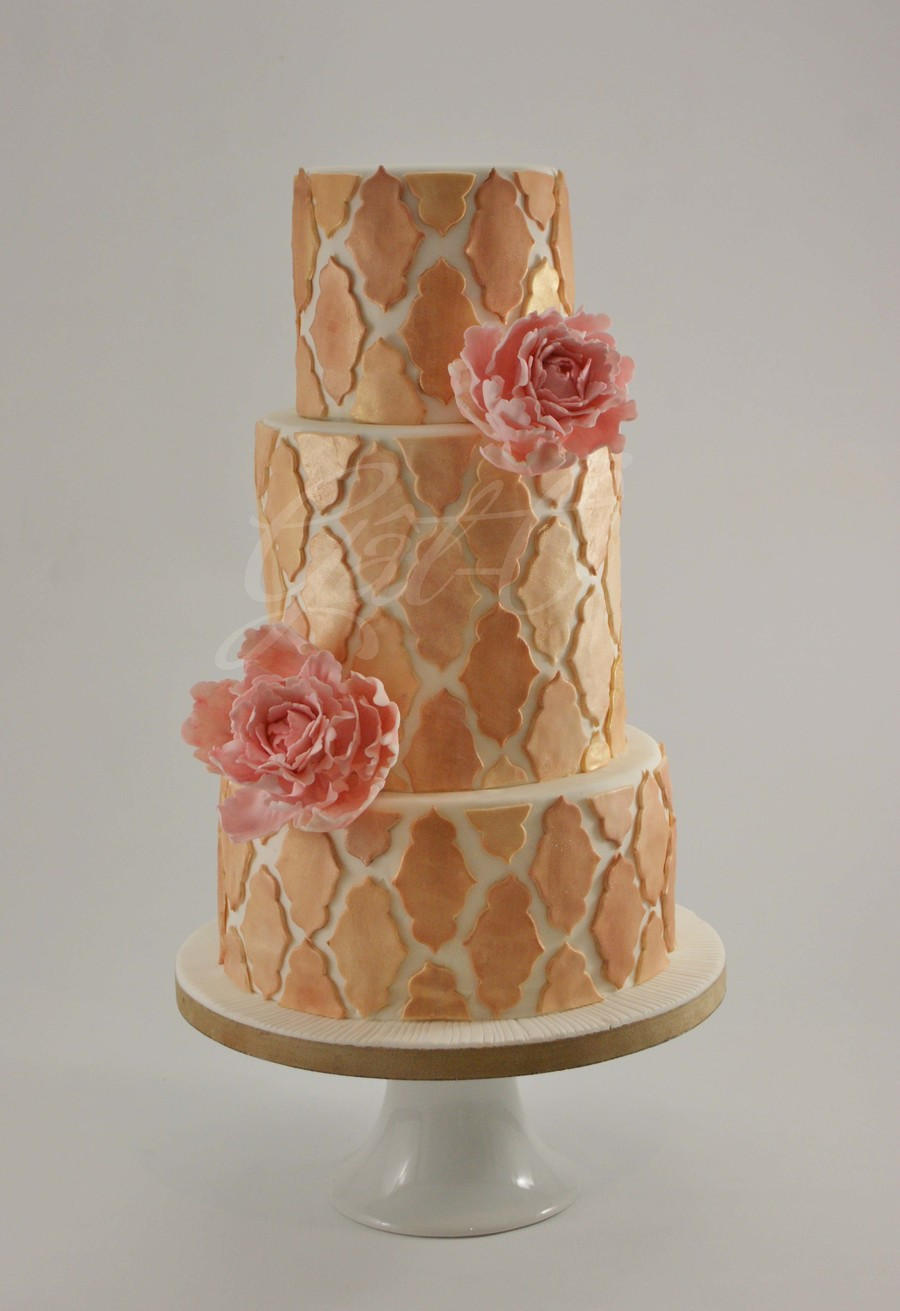 Gold & Bronze With A Touch Of Pink on Cake Central