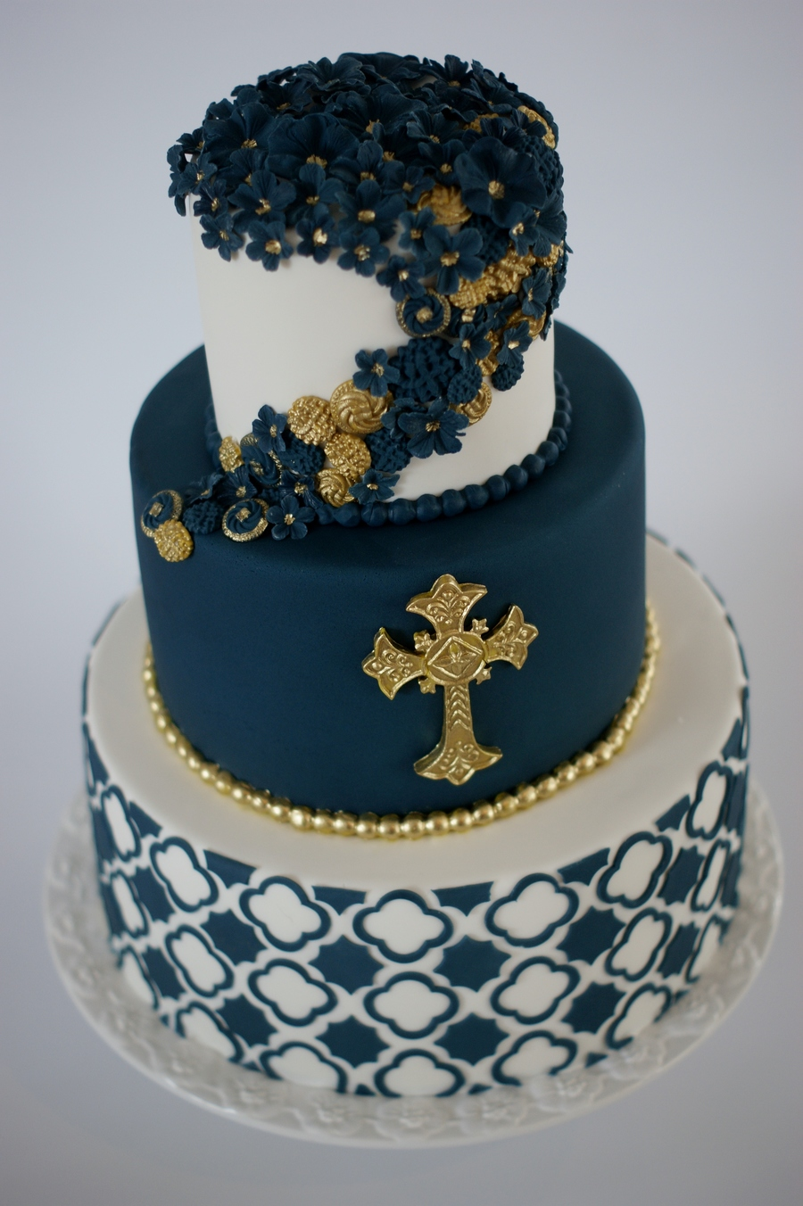 Baptism Cake For A Close Friends Son Covering The Navy