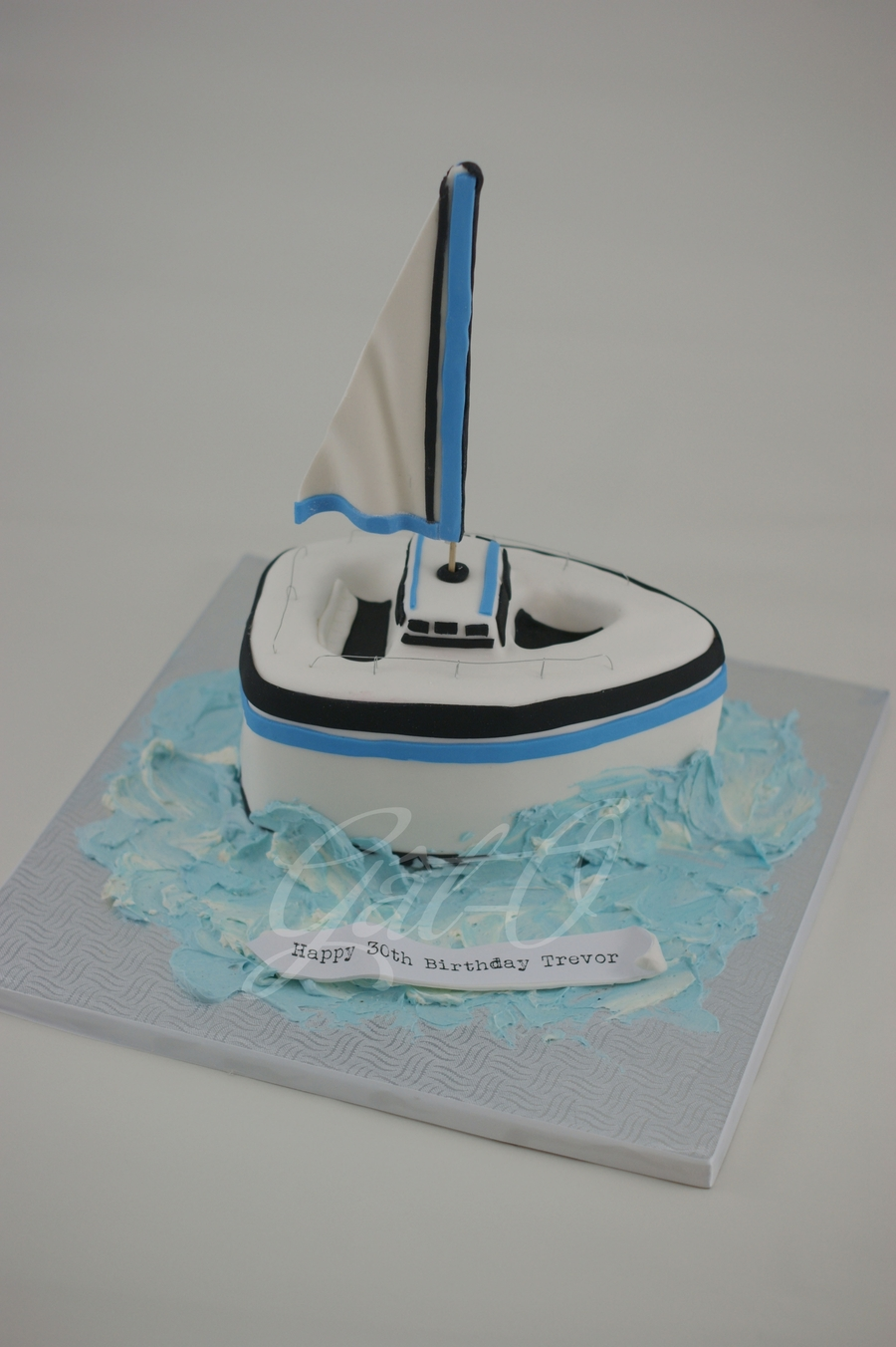 Sailboat Cake  on Cake Central