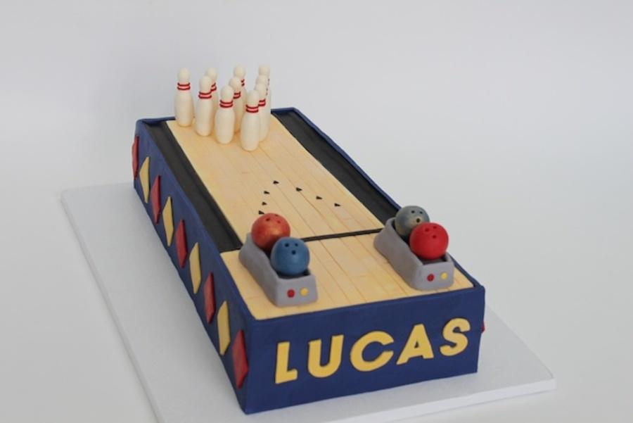 Bowling Pin Birthday Cake