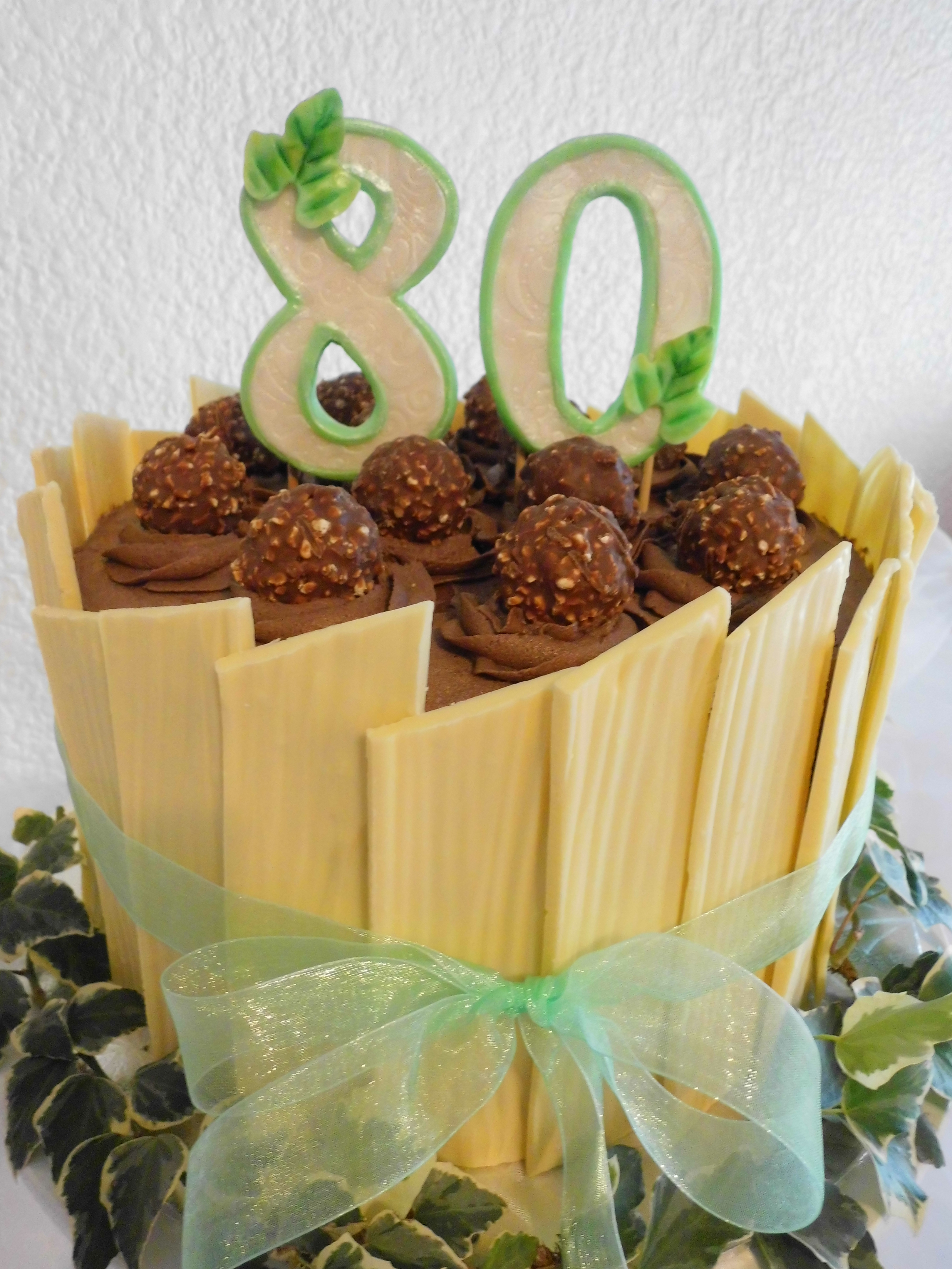 8Oth Birthday Cake With Chocolate Shards CakeCentralcom